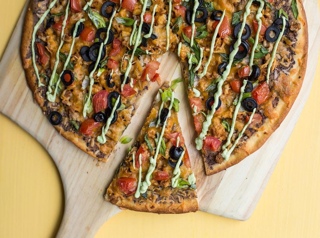 Mexican Pizza with Avocado Crema