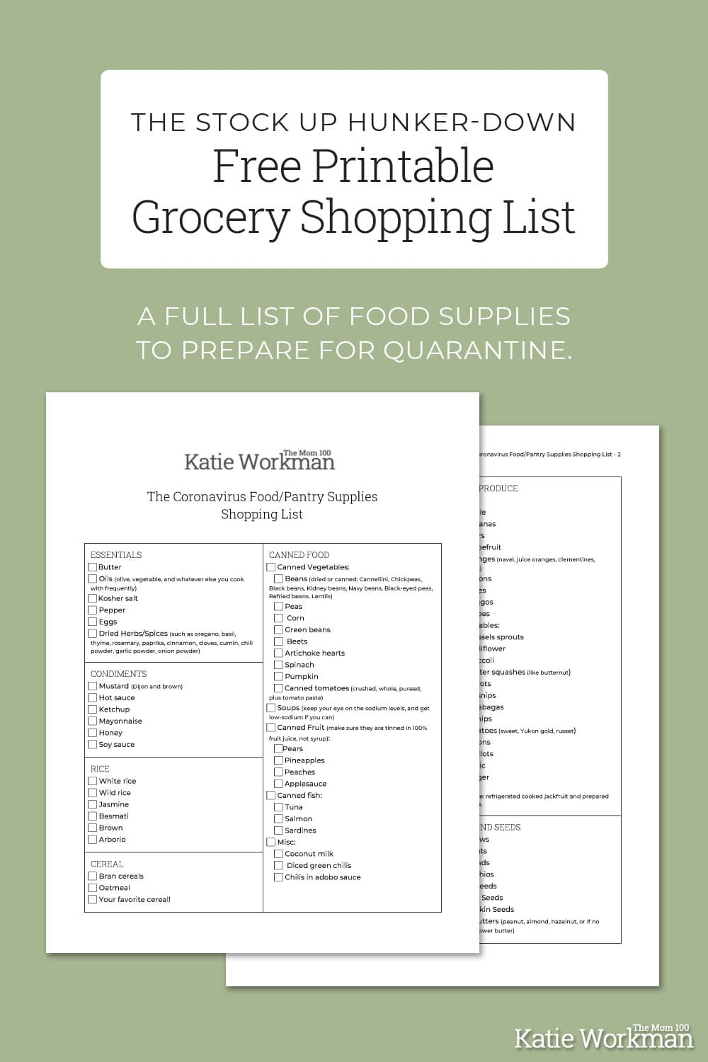 The Stock Up Hunker-Down Shopping List