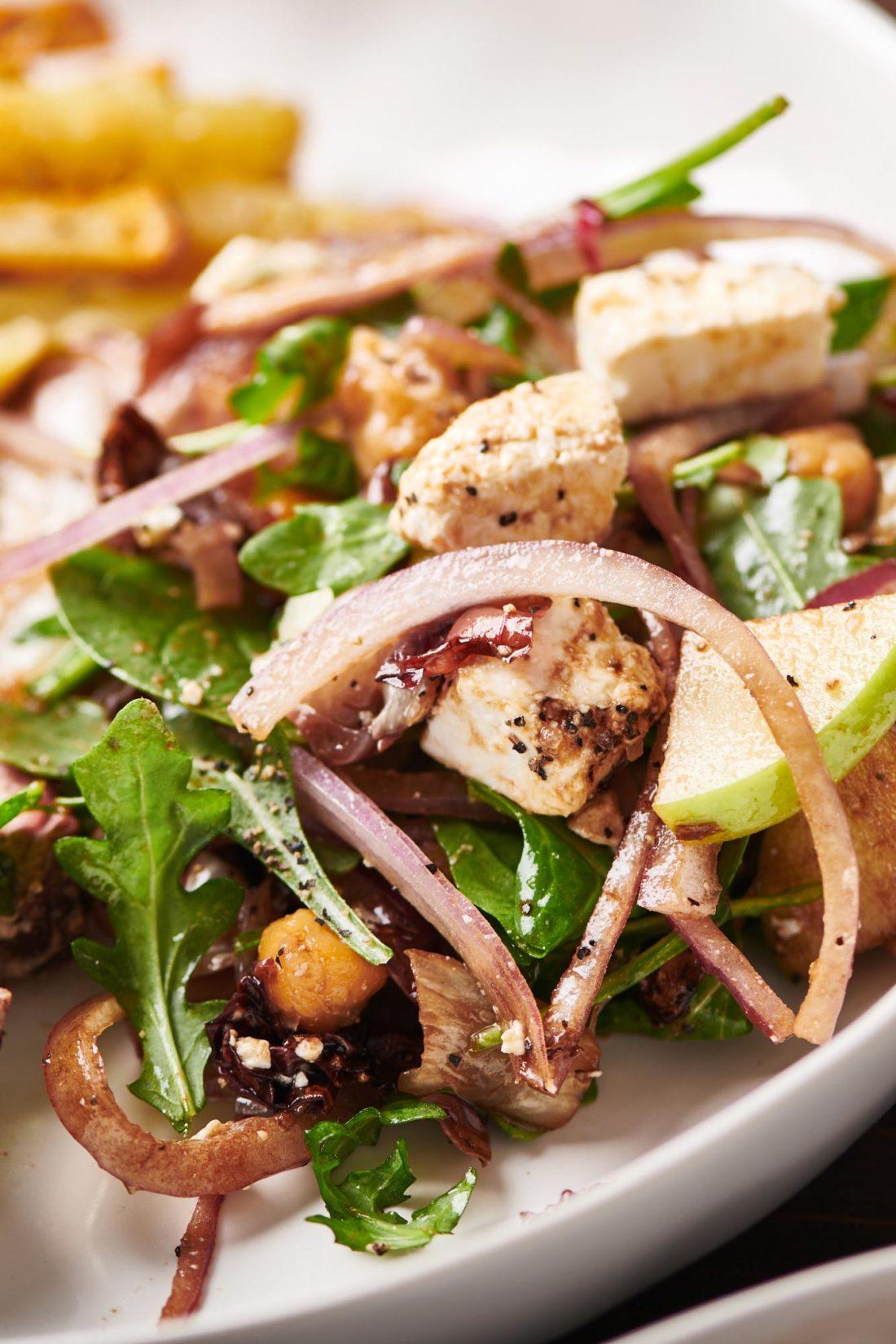 Roasted Chickpea, Apple and Feta Salad