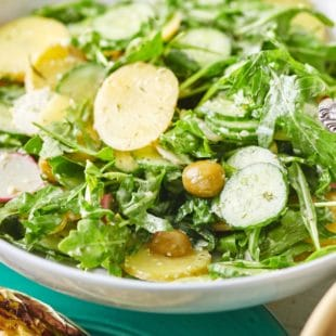 Arugula and Cucumber Salad with Tzatziki Vinaigrette