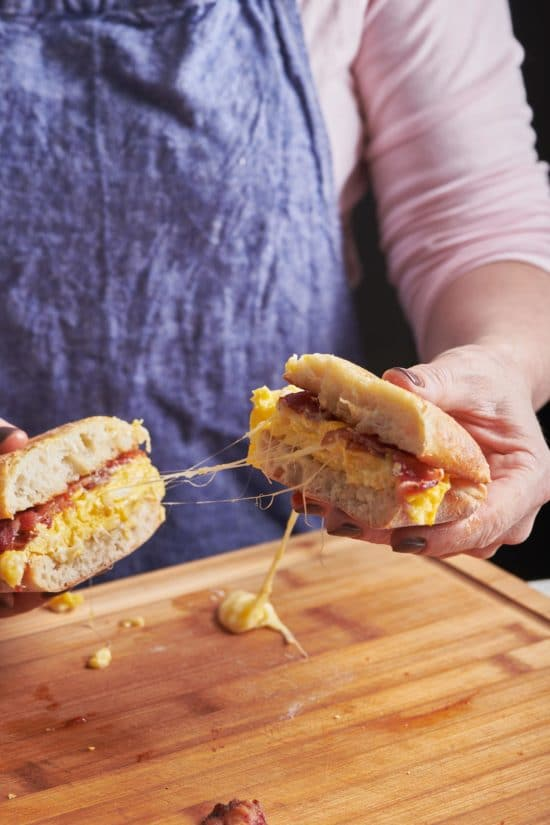 The Classic Bacon, Egg and Cheese Sandwich