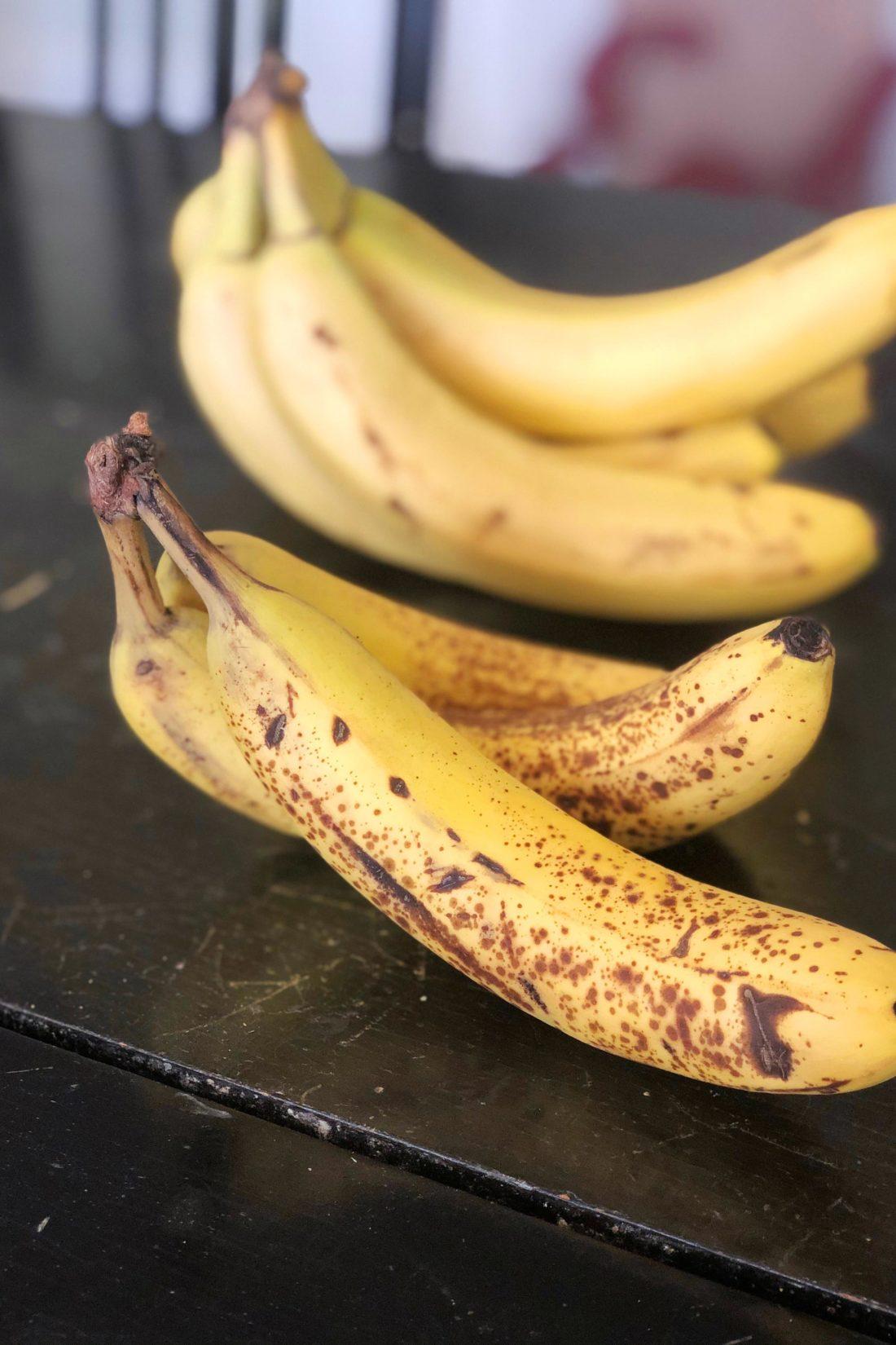 Ripe bananas for banana bread