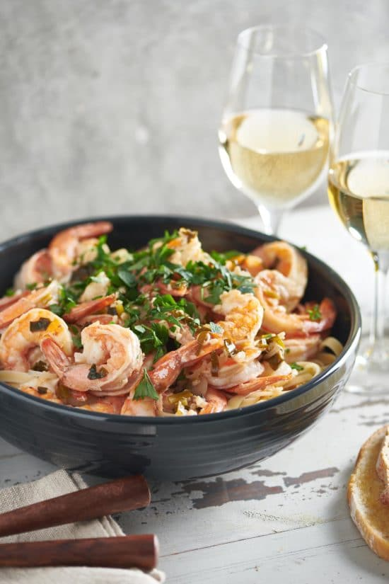 Saturday Supper #3: Shrimp Scampi Loves Pinot Grigio