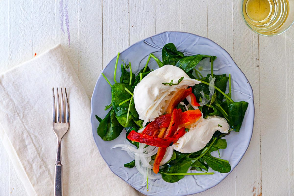 Spinach Salad with Burrata