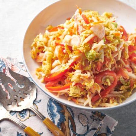 Vegan Asian Napa Cabbage Slaw