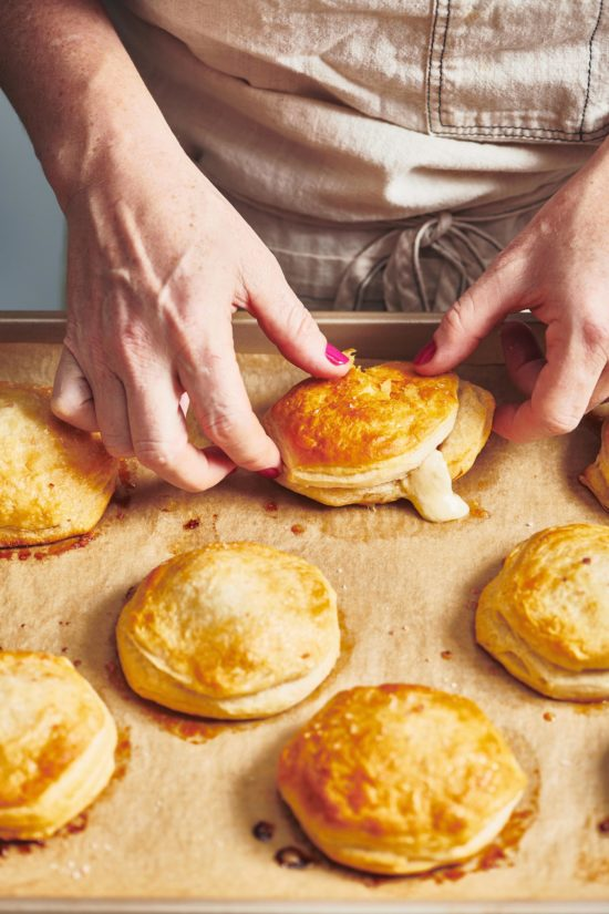 Three Cheese and Prosciutto Stuffed Biscuits