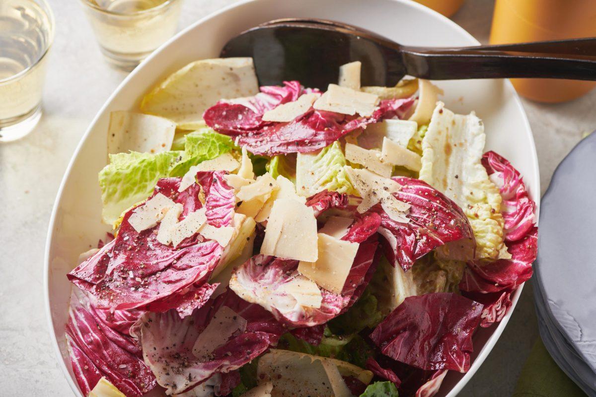 Mixed Lettuce Salad with Mustard Vinaigrette