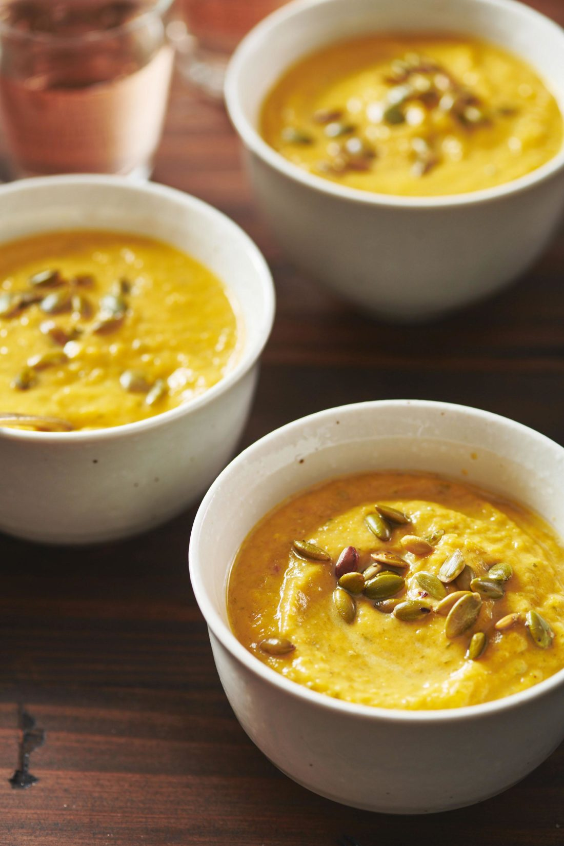 Roasted Butternut and Leek Soup with Cumin and Coriander