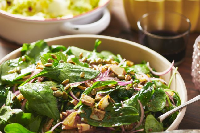Spinach Salad with Roasted Fennel