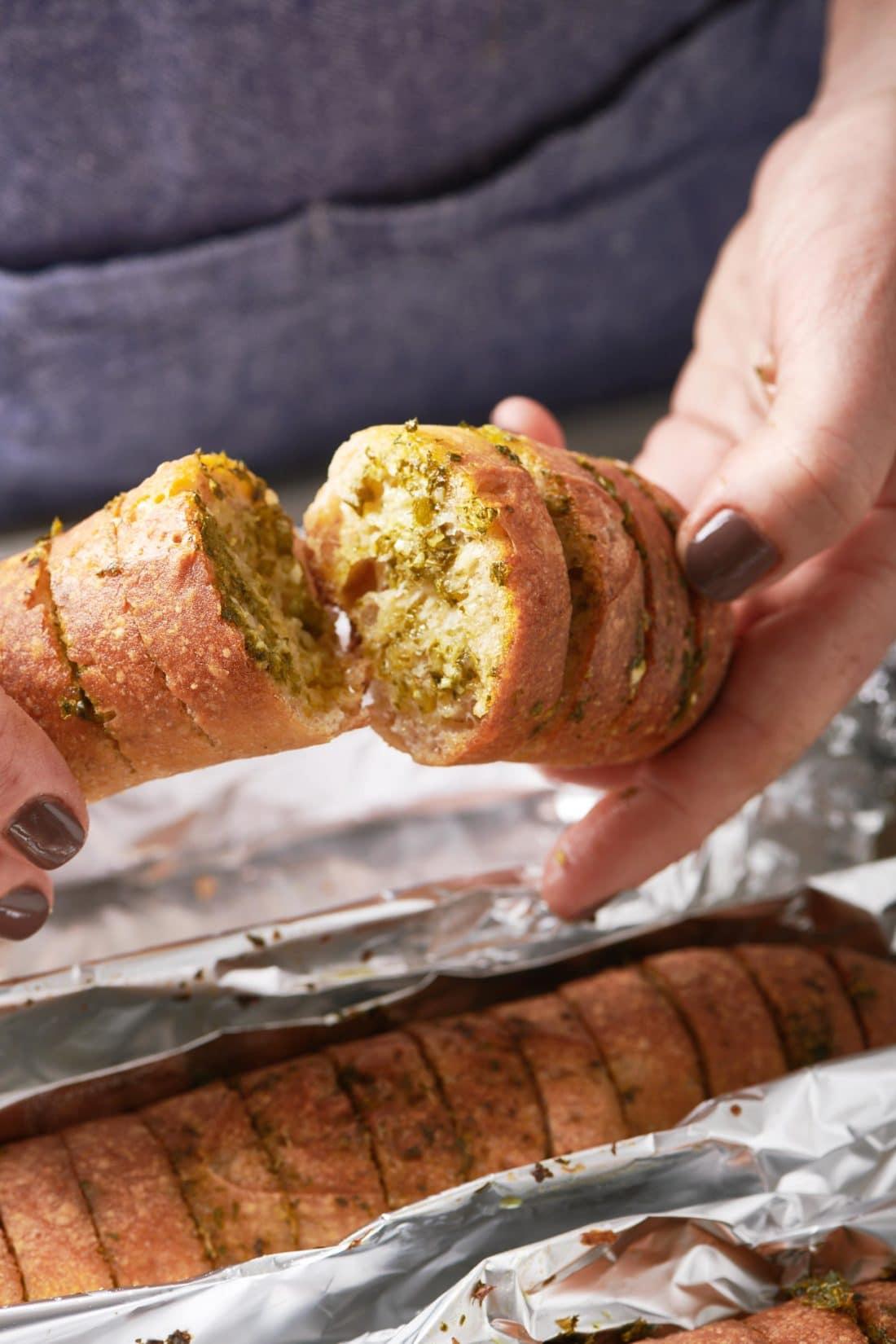 Chimichurri Garlic Bread
