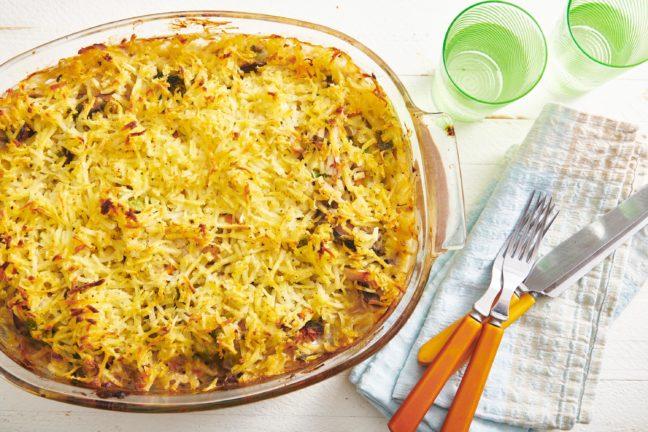 Hashbrown Chicken Vegetable Pot Pie Casserole
