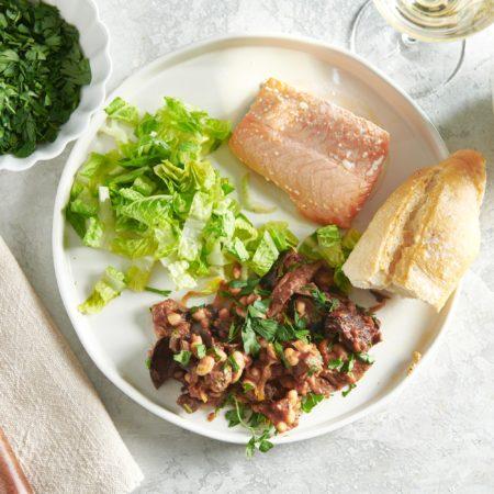 Mushroom, Tomato and White Bean Ragout