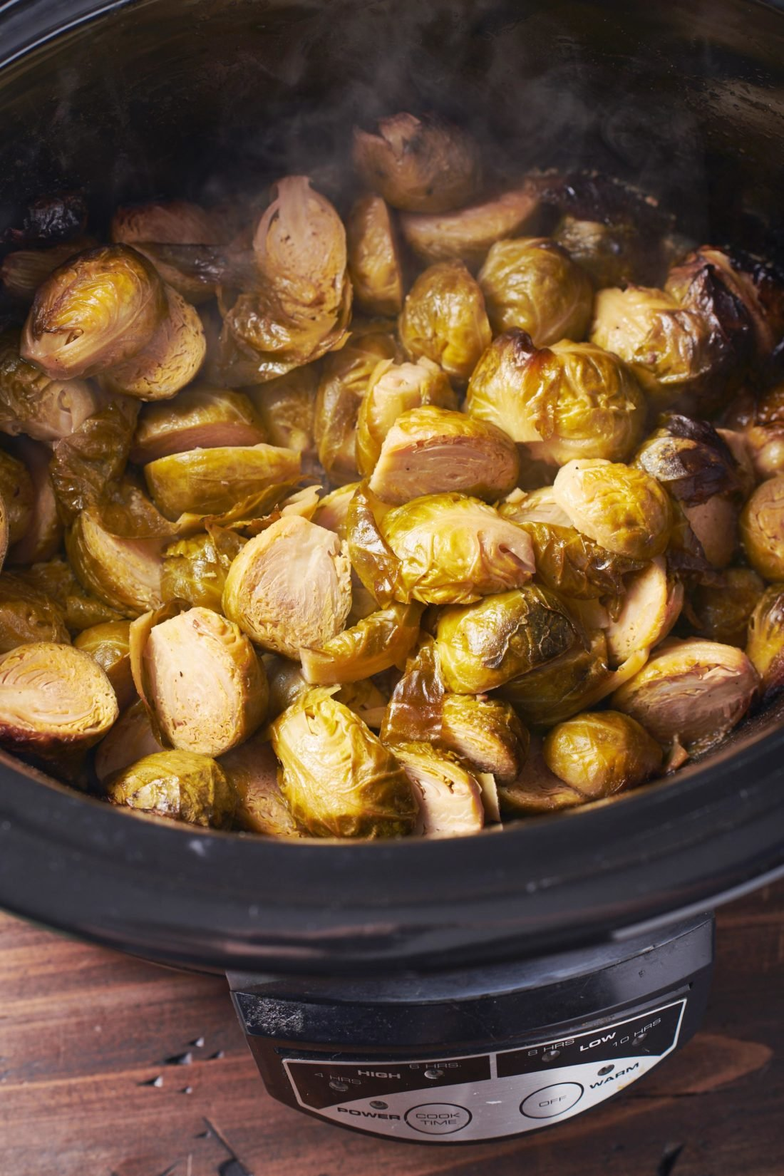 4-Ingredient Slow Cooker Maple-Dijon Brussels Sprouts