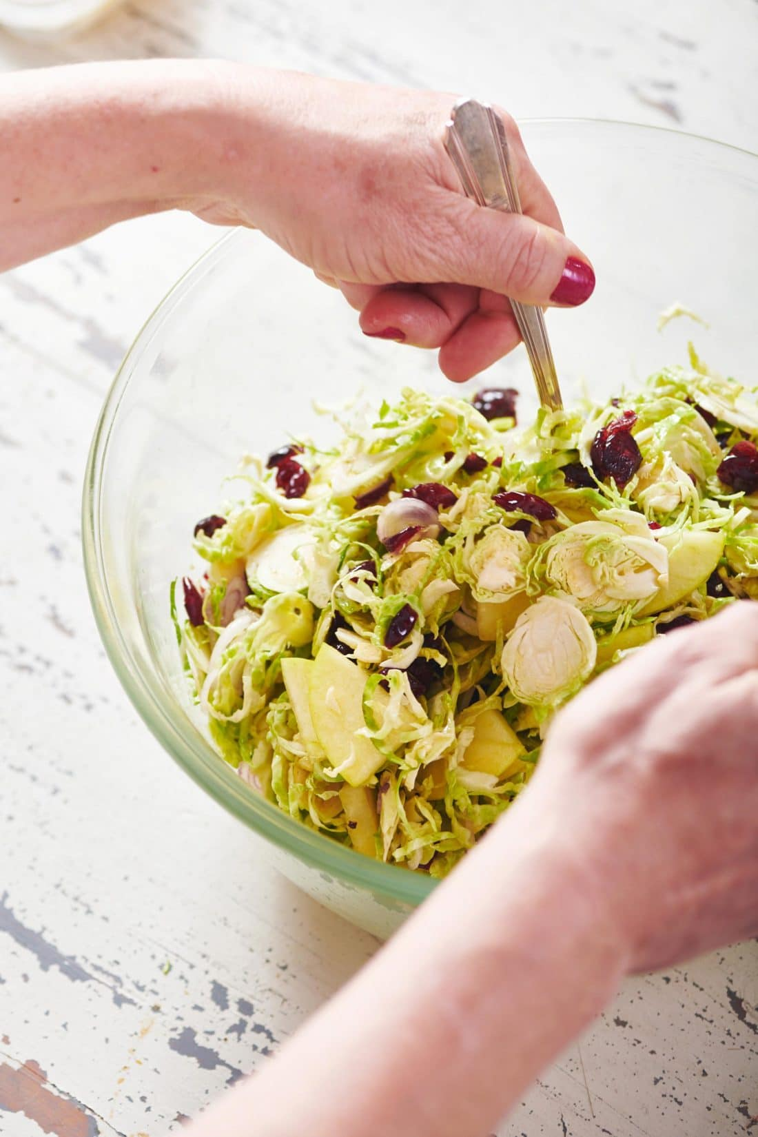 Brussels Sprouts, Pecorino and Apple Salad