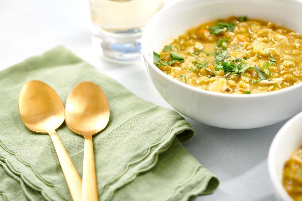 Leftover Turkey Split Pea Soup