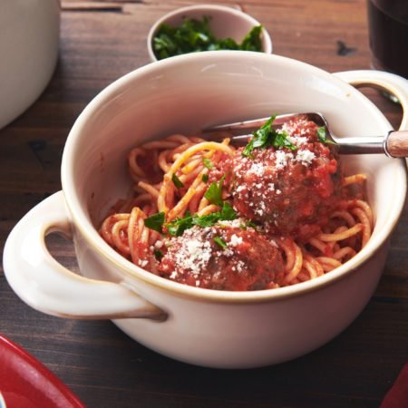 Spaghetti and Meatballs with Tomato Sauce