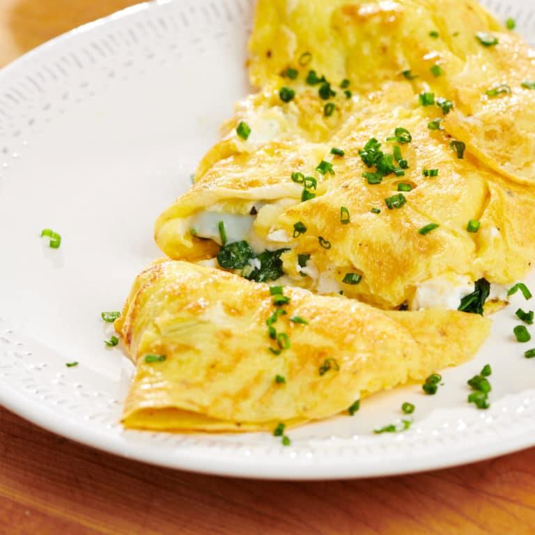 Spinach Feta Omelet