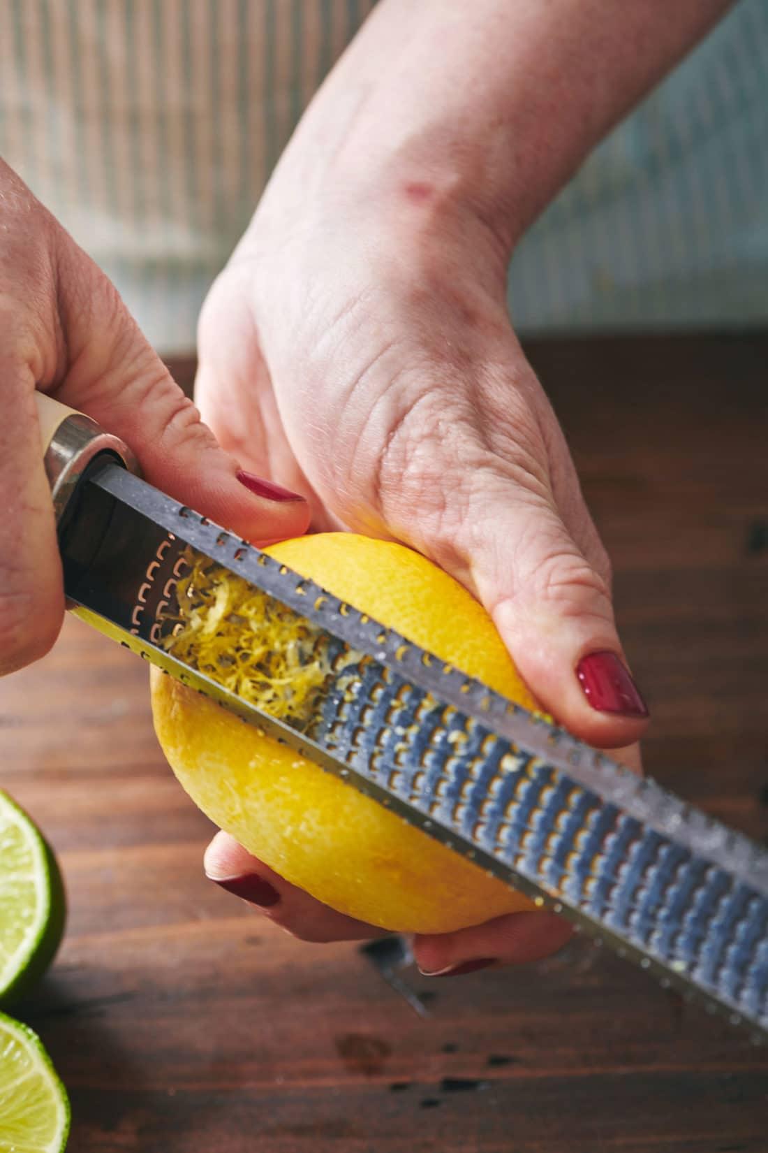 Zesting lemons
