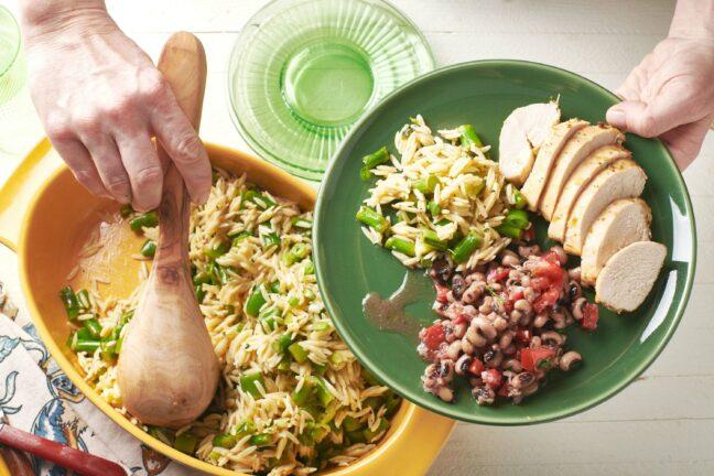 Vegetarian Spring Orzo Salad