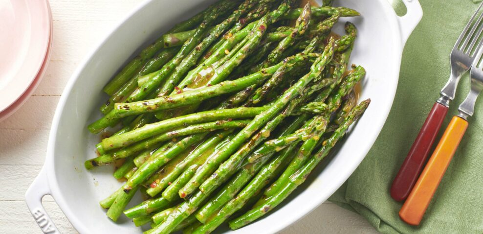 Grilled Asparagus with Vinaigrette