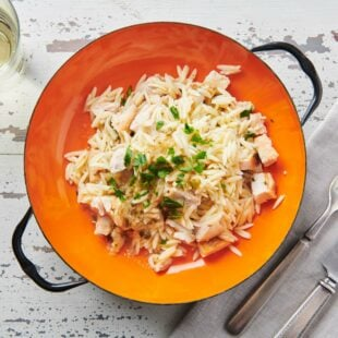 Chicken Piccata Orzo Salad