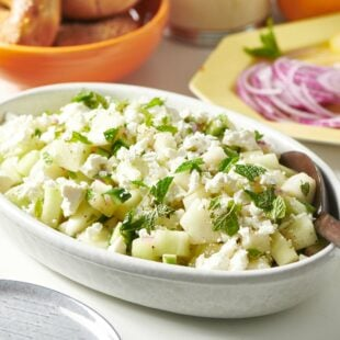 Melon-Cucumber Salad with Feta