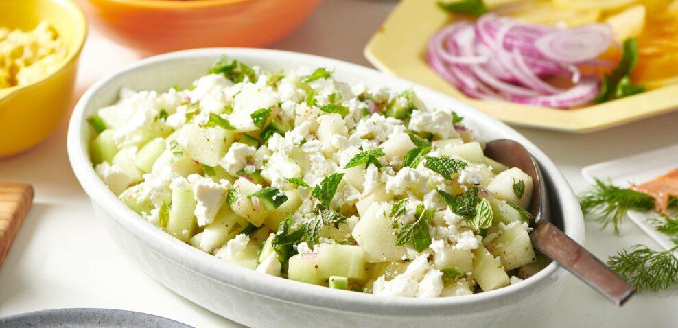 Melon-Cucumber Salad with Feta