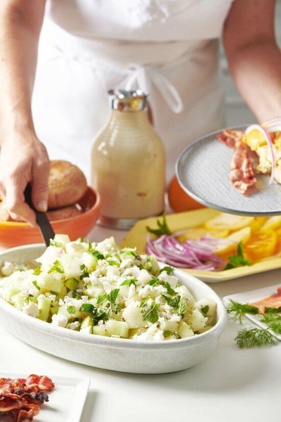 Honeydew-Cucumber Salad with Feta