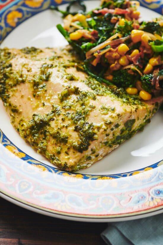 Salmon with Chimichurri Sauce