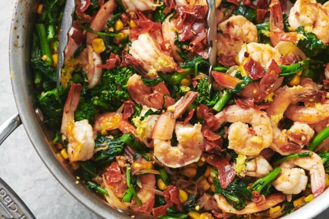 Sauteed Shrimp with Vegetables