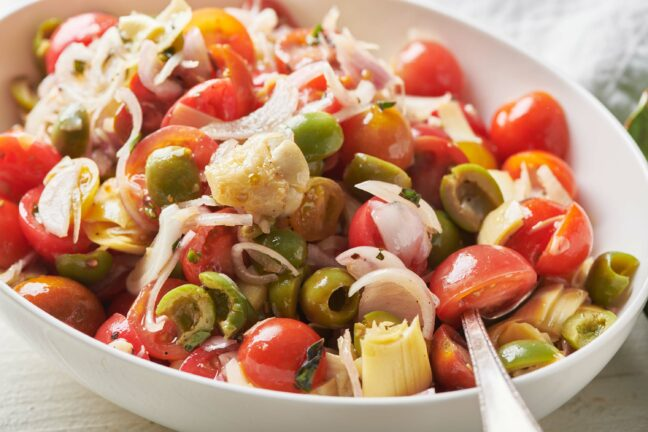 Cherry Tomato Antipasti Salad
