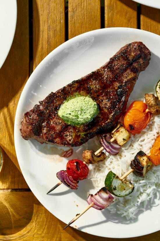 New York Strip Steak with Jalapeno Butter