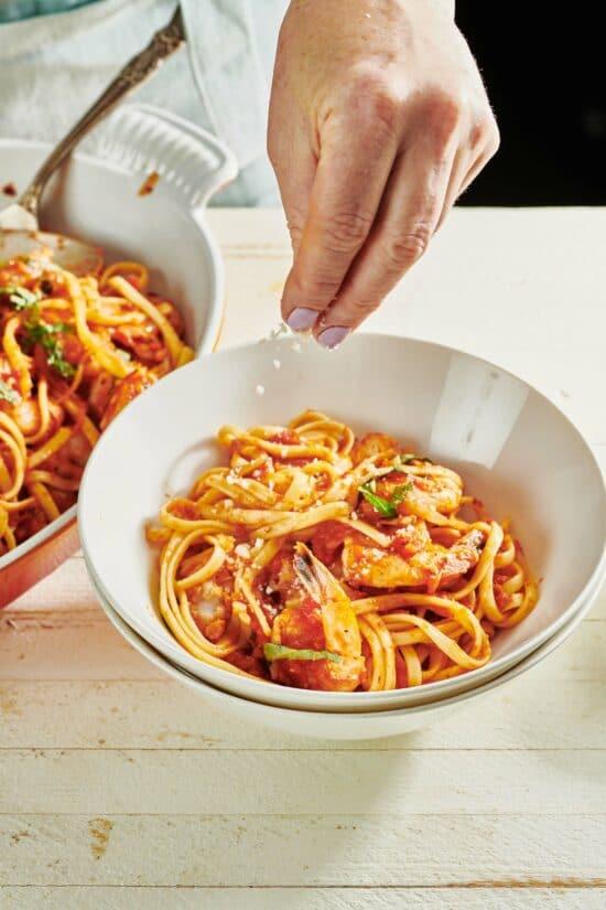 Shrimp Fra Diavolo with Linguine