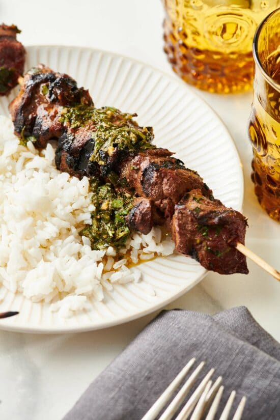 Moroccan-Inspired Lamb Kebabs