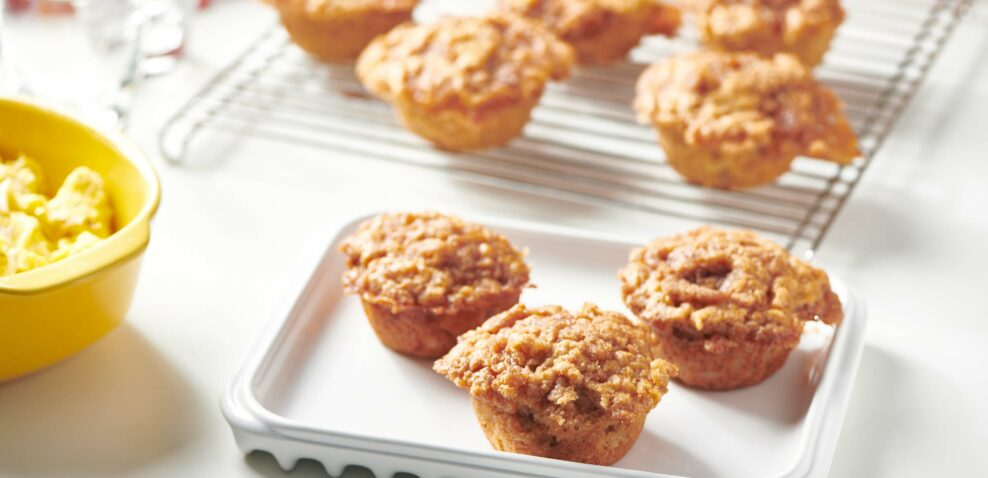 Brown Butter Apple Streusel Muffins