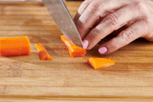 Cutting Carrots into Matchsticks