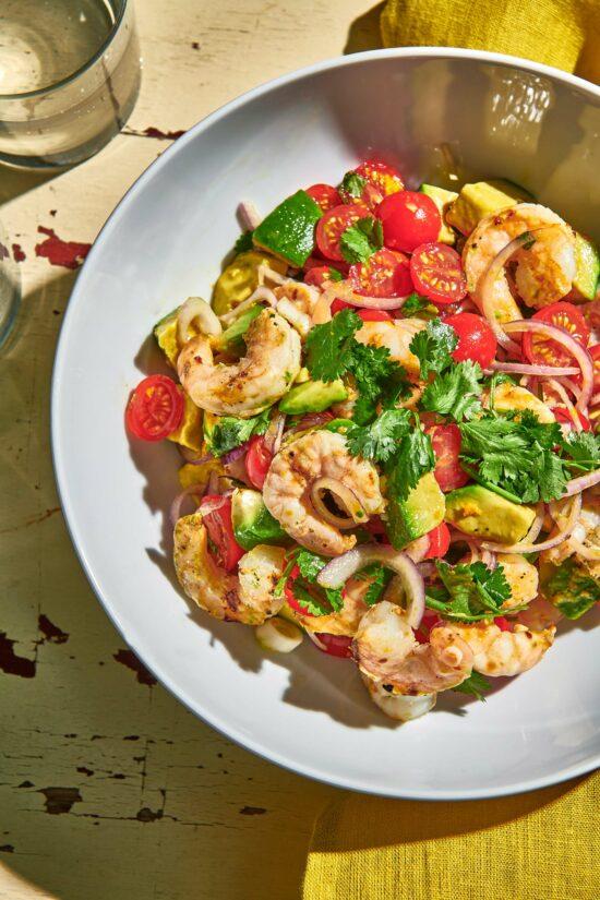 Grilled Shrimp Salad with Citrus Dressing