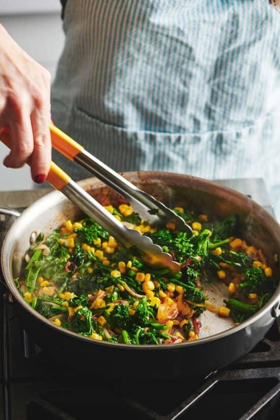Sauteed Broccolini and Corn